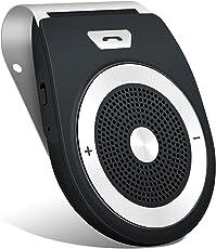 Aduds Auto Power on Kfz Freisprecheinrichtung Bluetooth Auto Car Kit Freisprechanlage mit eingebautem Bewegungssensor,Unterstützt GPS, Musik,Handsfree Wireless Visier Speakerphone für 2 Telefone