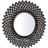 GIG Handicrafts Metal Wall Mirror (56 x 56 x 4 cm, Black)