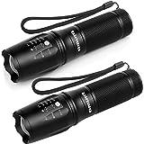 Binwo LED Taschenlampe, Superhelle 2500 Lumen XM-L2 Taschenlampe, 5 Modis Einstellbar, Tragbarer Zoombar Wasserdicht Taktische Taschenlampen für Outdoor Sports, Heller als T6 Taschenlampe