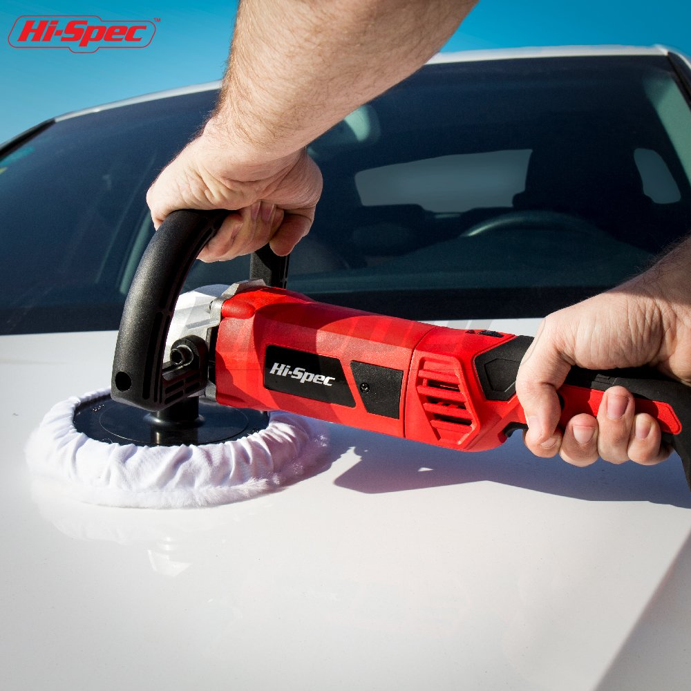 """Polish Buff Variable Speed Switch Buffing Pad Car Polisher Buffer Sander,Rotating 7/"""" Buffer Kit Fix Paint Imperfections /& Detail Car Auto Paint"""