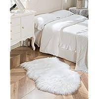 SXYHKJ Tapis Faux en Peau de Mouton,Imitation Toison Moquette Fluffy Soft Longhair Décoratif Coussin de Chaise Canapé…