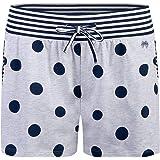 Sanetta Pantalones cortos de pijama para mujer, diseño de lunares