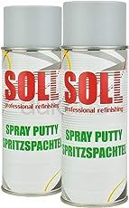2X SOLL Spritzspachtel Spritzfüller Sprühspachtel Füller Grundierung Grau 400ml