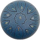 Napacoh Tambor De Lengua De Acero, Instrumento De Percusión De Tecla C De 6 Pulgadas Y 11 Tonos para Acampar/Yoga/Meditación,
