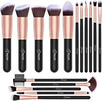 Set de brochas de maquillaje profesional BESTOPE 16 piezas Pinceles de maquillaje Set Premium Synthetic Foundation Brush...