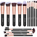 Set de brochas de maquillaje profesional BESTOPE 16 piezas Pinceles de maquillaje Set Premium Synthetic Foundation Brush Blen