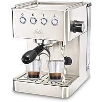 Solis Espressomaschine, Programmierbare Tassengröße, Dampf- und Heißwasserfunktion, 58 mm Profi-Siebhalter, 15 bar, 1,7…