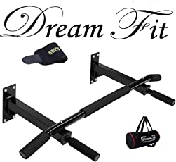 Dreamfit CH Steel Wall Mounting Chin-Up Bar with Free Sweat Belt and Gym Bag