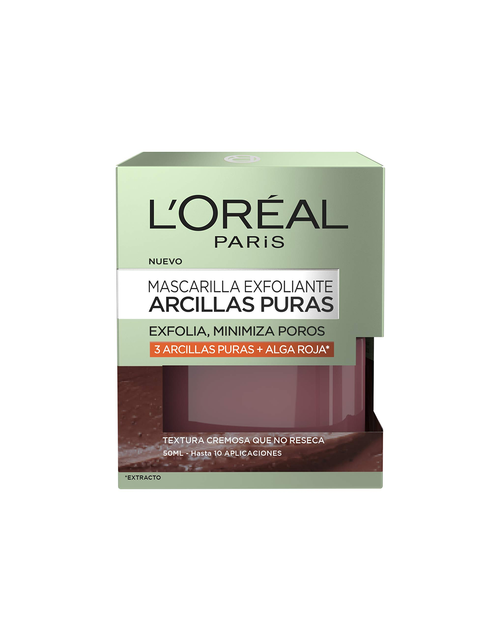 L'Oreal Paris Dermo Expertise – Arcillas puras mascarilla purificante, color rojo – total 50 ml