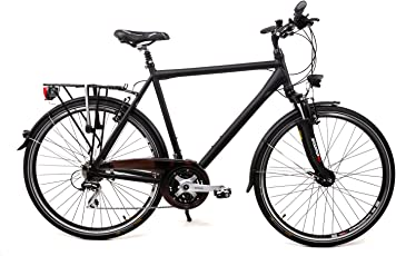 "28"" Zoll Alu Herren MIFA Trekking Fahrrad Shimano 24 Gang Nabendynamo grau Rh50"