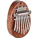 Piano à pouce Kalimba à 8 touches, piano de poche portable, c'est le cadeau le meilleur et le plus chaleureux pour les enfant