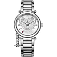 Vivienne Westwood Women's Orb Quartz Watch with Silver Dial Analogue Display and Stainless Steel Bracelet