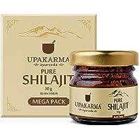UPAKARMA Natural & Pure Ayurvedic Shilajit/Shilajeet Resin 30 Gram Mega Pack