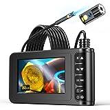Endoscope à Deux Têtes, YINAMA Endoscope Numérique à Double Objectif 1080P HD, écran LCD étanche 4,3 Pouces, Caméra d'Inspect