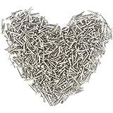 500 Stuks zilveren ronde kop kleine houten nagels diy decoratieve dozen accessoires 1 * 10mm