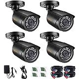 Anlapus 1080P TVI Caméra de Surveillance Extérieure Etanche IP66, 20M Vision Nocturne, Objectif 3,6mm, Couleur Noire, pour DV