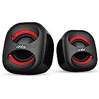 Artis Mini 2.0 USB Multimedia Speakers (Red)