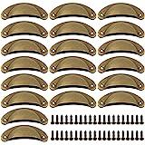 Deurknop Vintage Handgrepen Meubels 20 Stuks Meubelgrepen Deurknoppen Vintage Shell Handgreep Meubelknoppen met Schroeven voo