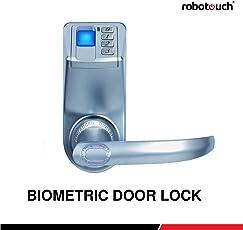 Robotouch Trinity LED Display Keyless Biometric Fingerprint Door Lock for secuirity Home,Medium Size,(RBTB121, Grey)