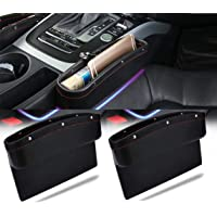 Lukzer 2 PC Car Seat Gap Filler Leather PU Car Console Side Storage Organizer Seat Pockets Catch Caddy/Card Mobile…