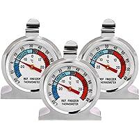 Thlevel 3 PCS Thermomètre Réfrigérateur Grand Cadran en Acier Inoxydable de Température pour Congélateur Refroidisseur…