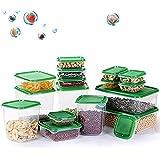 TOPSEAS Set di Contenitori per Alimenti, Lavastoviglie, Congelatore e Microonde Sicuro, Senza BPA Contenitori per Cereali, 17
