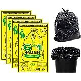 G 1 Garbage Bags / Dustbin Bags, Medium (19 X 21 Inches) - 30 Bags/Pack (Pack of 4, Black)