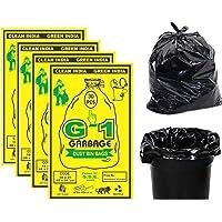 G 1 Garbage Bags / Dustbin Bags, Medium (19X21 Inches) - 30 Bags/Pack (Pack of 4, Black)