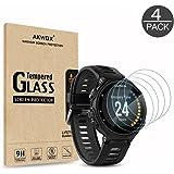 AKWOX 4 Stück Schutzfolie für Garmin Forerunner 735XT 9H Härtegrad Panzerglasfolie 0.3mm Kratzfest HD Displayschutzfolie für Garmin Forerunner 735XT GPS Multisport and Running Watch