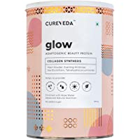 Cureveda Glow Plant Based Collagen Veg and Natural Beauty Collagen Protein Powder for Men and Women – Pearl powder…