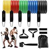 Zriey Juego de Bandas Elásticas de Resistencia, Adecuado para Fitness, Fuerza, Pérdida de Peso, Yoga, Equipo de Fitness para