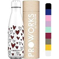 Proworks Bottiglia Acqua in Acciaio Inox, Senza BPA Vuoto Isolato Borraccia Termica in Metallo per Bevande Calde per 12…