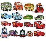 Mingjun - 17 parches para planchar o coser en autobuses, coches, camiones de fuego, coches, chaquetas, chaquetas, mochilas, b