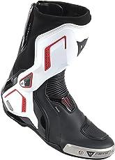 DAINESE-TORQUE D1 OUT AIR Stivali da moto, Nero/Bianco/Lava-Rosso, Taglia 44