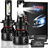 Lampadina H7 Led, CSP 72W 12000 LM Fari Abbaglianti o Anabbaglianti per Auto Kit - Sostituzione per Luci Alogene o Lampade Hi