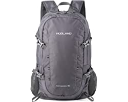 NODLAND Light Weight Backpack, 40L Foldable Water-Resistant Daypack, Hiking Outdoor Camping Rucksack for Men and Women, Large