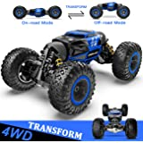 BEZGAR 1:14 Remote Control Car, Kids Toys Off Road Transform Racing Car 2.4Ghz 4WD Electric Motors Vehicles Buggy Hobby Car O