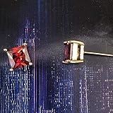 Orecchini a bottone in zircone di colore rotondo 7MM per donna Orecchini a bottone in zircone