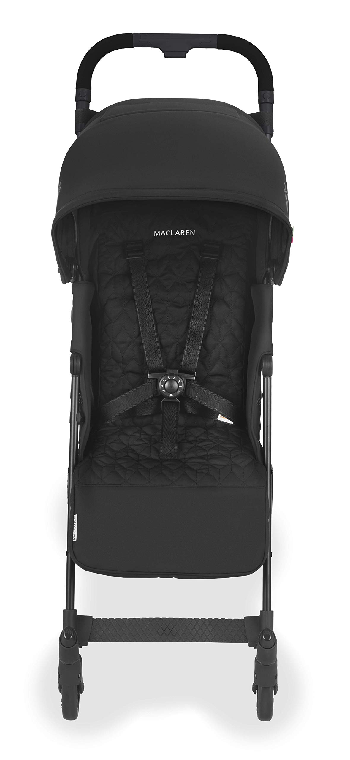 Maclaren Quest Arc Stroller- Ideal for Newborns up to 25kg with extendable UPF 50+/Waterproof Hood, Multi-Position seat and 4-Wheel Suspension. Maclaren Carrycot Compatible. Accessories in The Box Maclaren Lightweight and compact. ideal for newborns and children up to 25kg. you can do it all with one-hand- open, close, push and adjust the seat, footrest and front safety lock Comfy and perfect for travel. the quest arc's padded seat reclines into 4 positions and converts into a new-born safety system. coupled with ultra light flat-free eva tires and all wheel suspension Smart product for active parents. compatible with the maclaren carrycot. all maclaren strollers have waterproof/ upf 50+ hoods to protect from the elements and machine washable seats to keep tidy 7