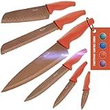 Wanbasion 6 Pezzi Set di Coltelli da Cucina Professionali Chef, Set Coltelli da Cucina Acciaio Inox,Set Coltelli da…
