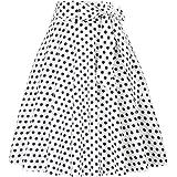 Belle Poque Femme Vintage Jupe Taille Haute Pin Up Plissée Jupe Trapèze Mi Longue Rétro BP560