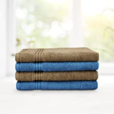 Swiss Republic Hand Towels Set- Signature collection 630 GSM made with 100% ring spun extra soft cotton with quick dry and double stitch line for extra long durability - set of 4 hand towels with 2 YEARS replacement GUARANTEE.
