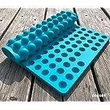 Collory Silikon Backmatte | 2cm Halbkugel Backform für Hundekekse Hundeleckerlies | Hitzebeständig 240°C | 40x28.5 | Lebensmittelecht (BPA-frei) | Pralinenform | Antihaftend