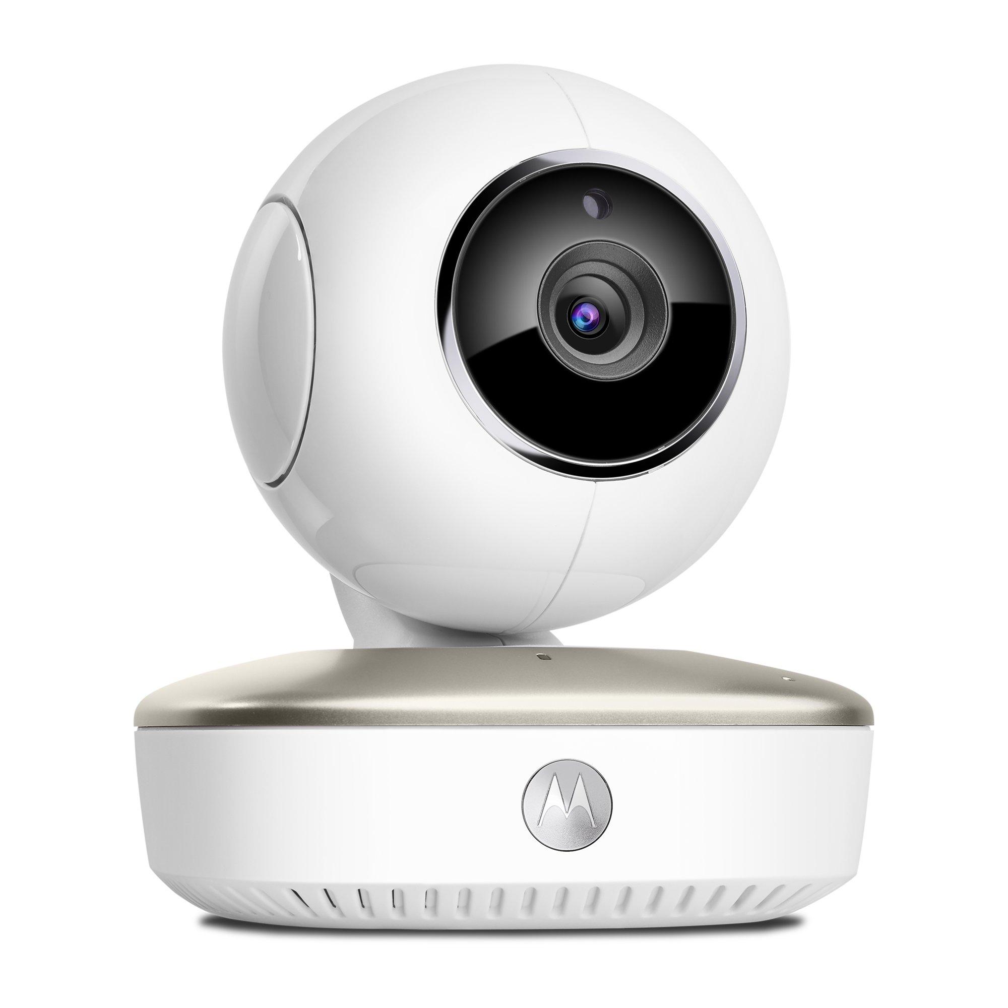 Motorola Smart Nursery Cam - Wi-Fi video baby monitor portatile con monitoraggio delle attivit� e s