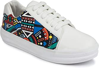 Longwalk Stylish Premium Printed Sneakers for Women