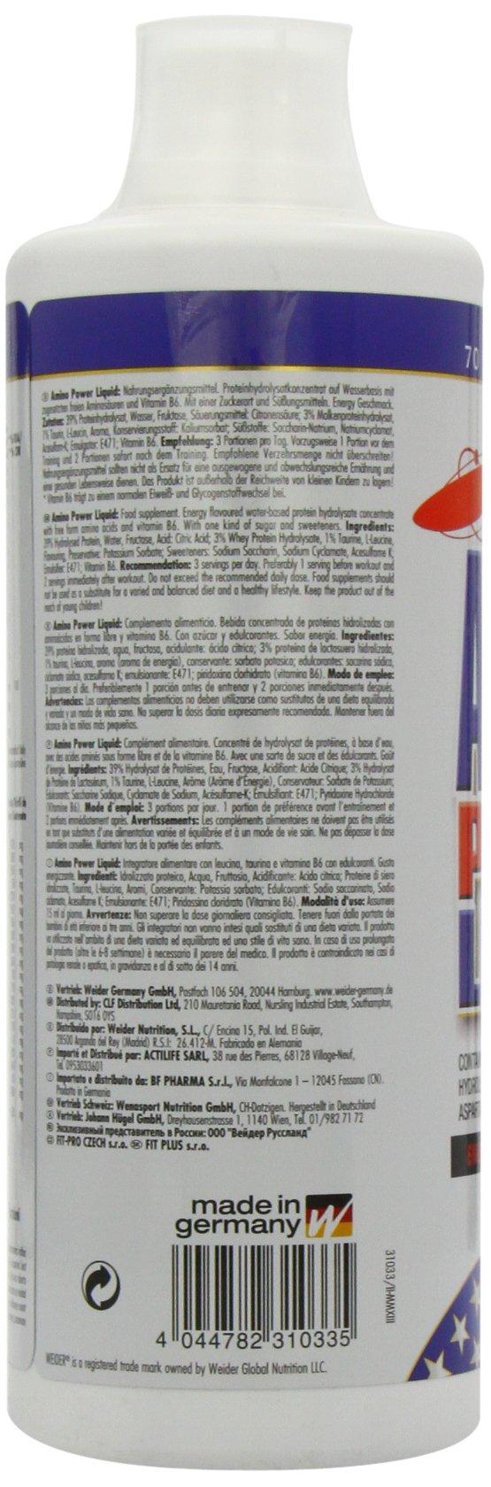 71sPXEC2nqL - Weider Amino Power Liquid 1L Energy, Essential Amino Acids, L-leucine, Free Taurine, Vitamin B8