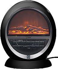 Sichler Haushaltsgeräte Heizer: Keramik Heizlüfter Im Kamin Design Flammen,  Schwarz, 2