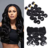 Silkylong Brazilian Hair Bundles With Closure Lace Frontal 360