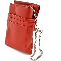 nean Kellner-Taxi-Geld-Börse-Portemonnaie mit Holster-Steck-Tasche und Kette (Rot)
