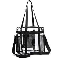 SPEEDEVE Clear Tote Bag Stadium Approved Crossbody Bag,Black